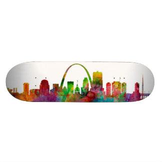 St Louis Missouri Skyline Custom Skateboard