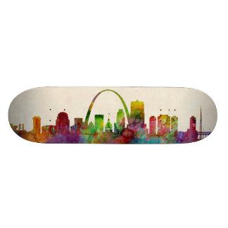 St Louis Missouri Skyline Skate Board
