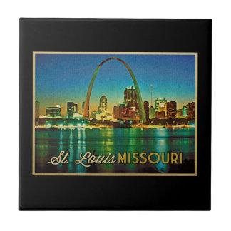 St. Louis Missouri Skyline Ceramic Tiles