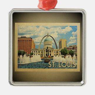 St Louis Missouri Vintage Travel Ornament