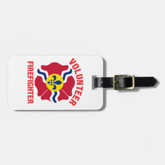 St Louis, MO Flag Volunteer Firefighter Cross Travel Bag Tag