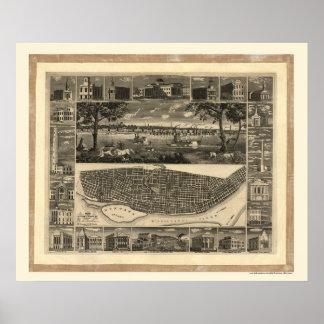 St. Louis, MO Panoramic Map - 1848 Poster