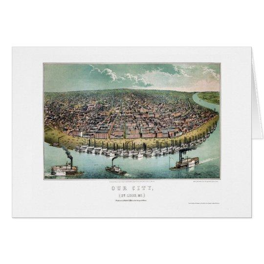 St. Louis, MO Panoramic Map - 1859 Card