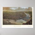 St. Louis, MO Panoramic Map - 1873 Poster