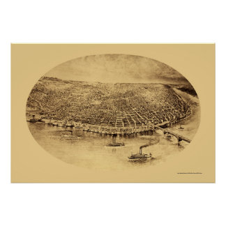 St. Louis, MO Panoramic Map - 1897 Poster
