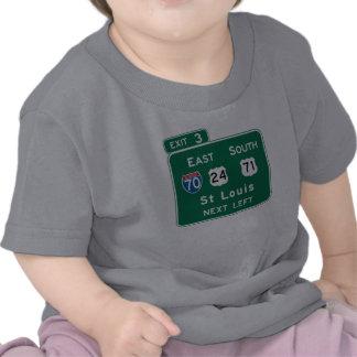 St. Louis, MO Road Sign Shirts