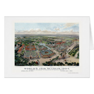 St Louis MO World s Fair Panoramic Map - 1904 Greeting Cards