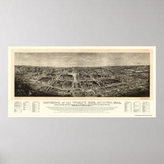 St Louis MO World s Fair Panoramic Map - 1904a Print