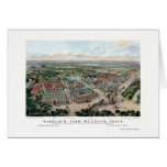 St. Louis, MO World's Fair Panoramic Map - 1904 Greeting Card