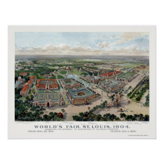 St. Louis, MO World's Fair Panoramic Map - 1904 Poster