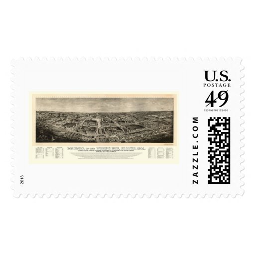 St. Louis, MO World's Fair Panoramic Map - 1904a Postage
