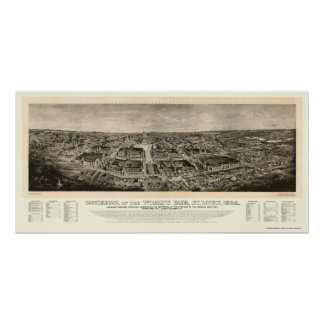 St. Louis, MO World's Fair Panoramic Map - 1904a Poster