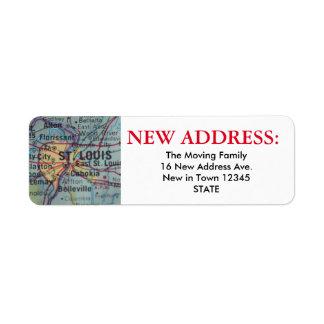 St Louis New Address Label