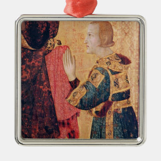 St. Louis of Toulouse  crowning his brother Metal Ornament