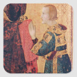 St. Louis of Toulouse  crowning his brother Square Sticker