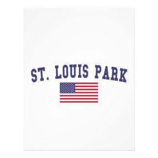 St. Louis Park US Flag Letterhead