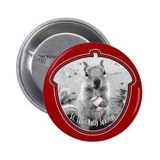 St Louis Rally Squirrel - baseball Pinback Button