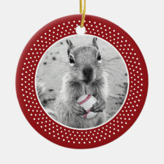 St. Louis Rally Squirrel Double-Sided Ceramic Round Christmas Ornament