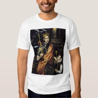 St. Louis, rey de Francia, con una página Camisas