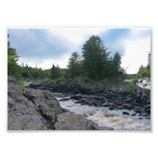 St. Louis River Rocks and Rapids Photographic Print