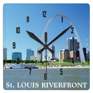 St. LOUIS RIVERFRONT Square Wallclocks