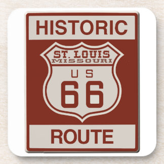 St Louis Route 66 Beverage Coaster