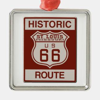 St Louis Route 66 Metal Ornament