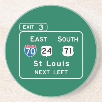 St. Louis, señal de tráfico del MES Posavaso Para Bebida