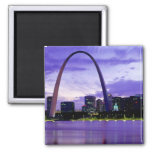 St. Louis Skyline 2 Inch Square Magnet