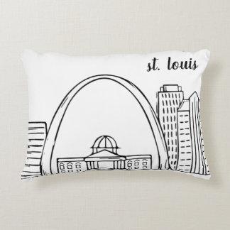 St. Louis Skyline Accent Pillow