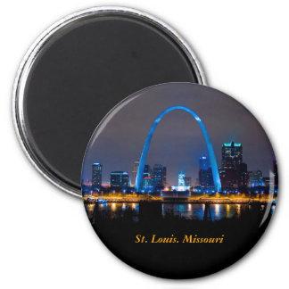 St. Louis Skyline at Night magnet