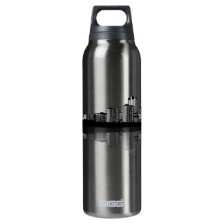 St. Louis Skyline (b/w) 16 Oz Insulated SIGG Thermos Water Bottle