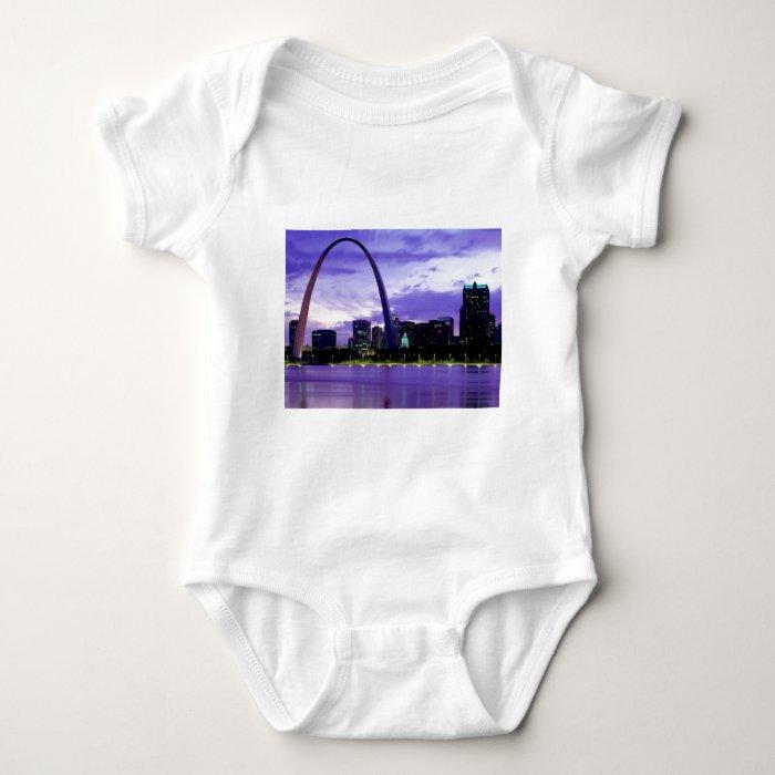 St. Louis Skyline Baby Bodysuit