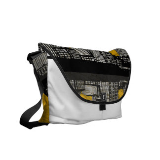 St. Louis Skyline Bag (yellow - detail) Courier Bag