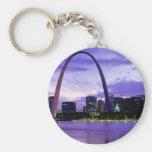 St. Louis Skyline Basic Round Button Keychain