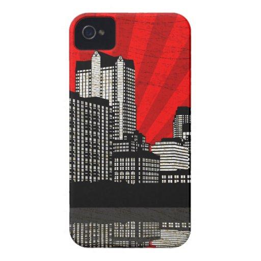 St. Louis Skyline Blackberry Case (red - detail)