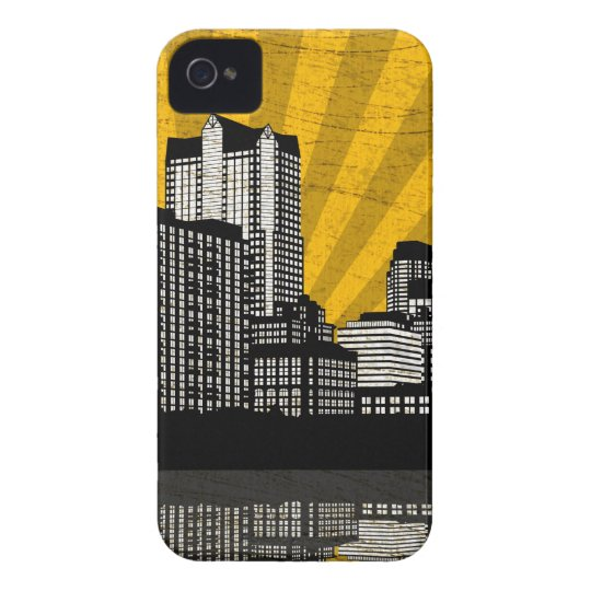St. Louis Skyline Blackberry Case (yllw - detail)