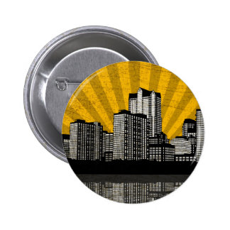 St. Louis Skyline Button (yellow detail)