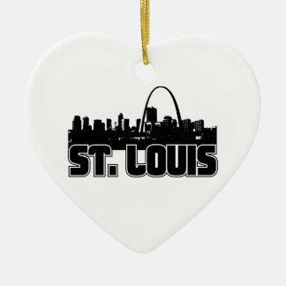 St Louis Skyline Ceramic Ornament