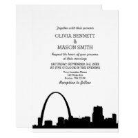 St Louis Skyline Cityscape Wedding Invitation