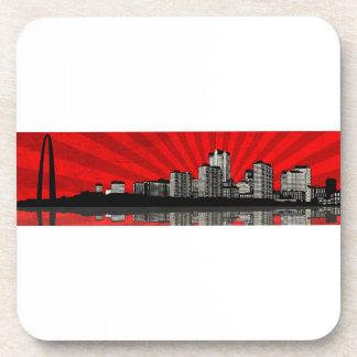 St. Louis Skyline Coaster (red)