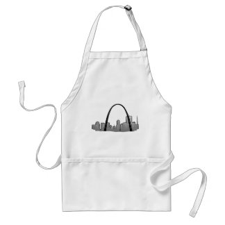 St Louis Skyline Drawing Adult Apron
