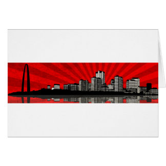 St. Louis Skyline Greeting Card (red)