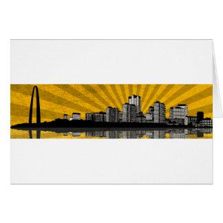 St. Louis Skyline Greeting Card (yellow)