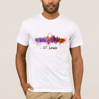 St Louis skyline in watercolor T-Shirt
