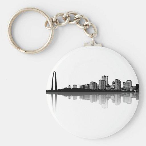 St. Louis Skyline Keychain (b/w)