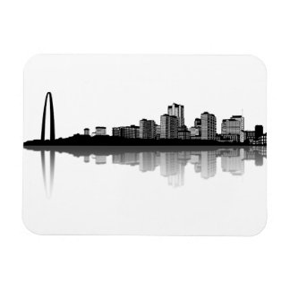 St Louis Skyline Magnet b w
