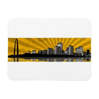 St Louis Skyline Magnet yellow