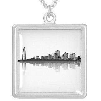 St. Louis Skyline Necklace (b/w)