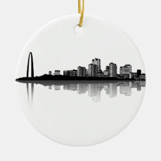 St. Louis Skyline Ornament (b/w)